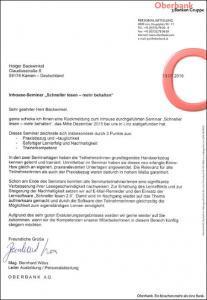 Oberbank schneller lesen Referenzschreiben