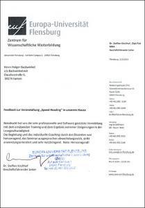 Schneller lesen Referenzschreiben Europa-Universität-Flensburg